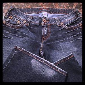 Silver Dark Distressed Jeans